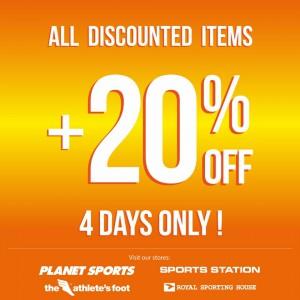 extra 20% discount